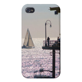 Sailing by Santa Monica iPhone 4 Case