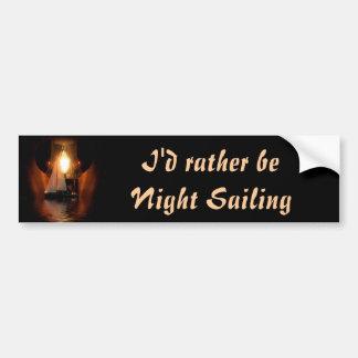 Sailing By The Lantern Light Car Bumper Sticker