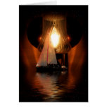 Sailing By The Lantern Light Card