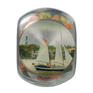 Sailing By The Light Glass Jars