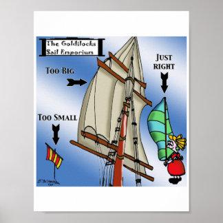Sailing Cartoon 7511 Poster