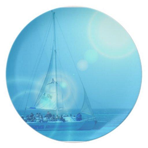 Sailing Catamaran Plate