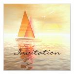 "Sailing Celebration Invitation Card 5.25"" Square Invitation Card"