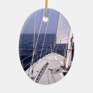 Sailing Ceramic Ornament