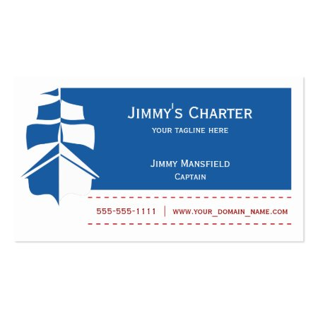 Sailing Charter Boat Business Cards