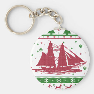 Sailing Christmas Keychain