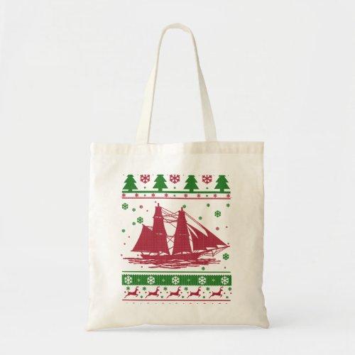 Sailing Christmas Tote Bag