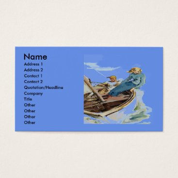 Professional Business Sailing Couple,  Date, Add Text Business Card