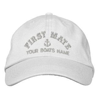 Sailing crew fist mate embroidered baseball cap