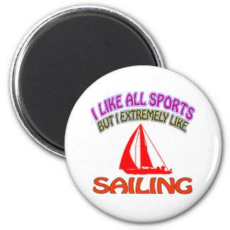 Sailing designs fridge magnets