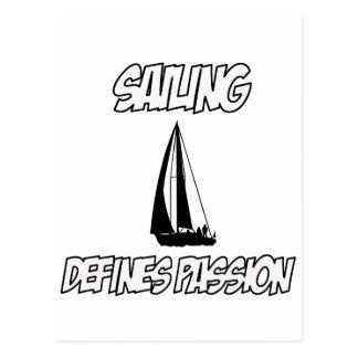 sailing designs postcard
