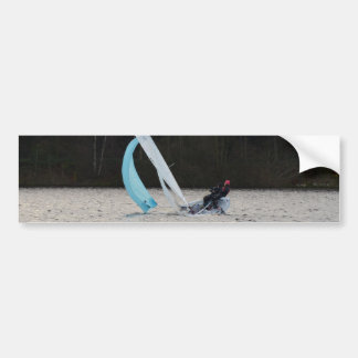 Sailing Dinghy At Speed Car Bumper Sticker