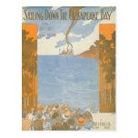 Sailing Down the Chesapeake Bay Postcard