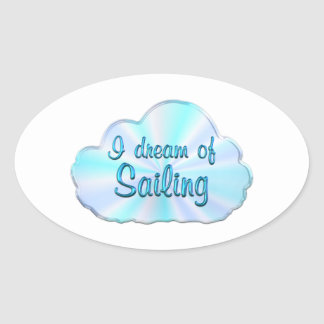 Sailing Dreamer Oval Sticker