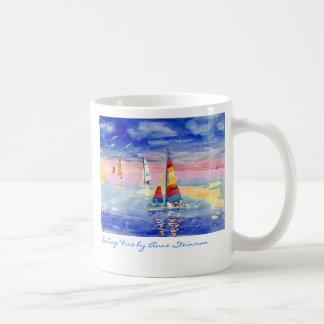 Sailing Free Hobie Cat Classic White Coffee Mug
