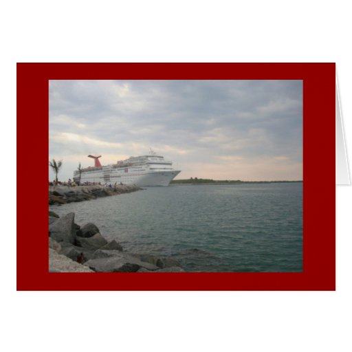 Sailing from Port Canaveral Stationery Note Card