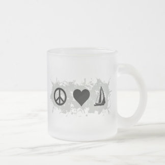 Sailing Frosted Glass Coffee Mug