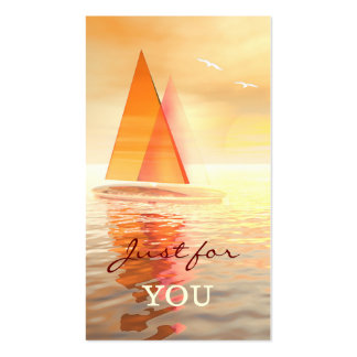 Sailing Gift Certificate Template Business Card
