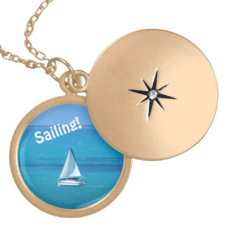 Sailing Gold Plated Necklace