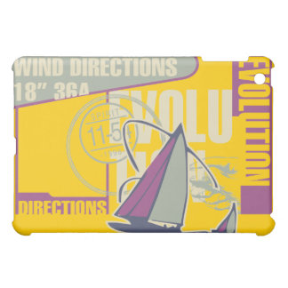 Sailing Gray and Gold  iPad Mini Covers