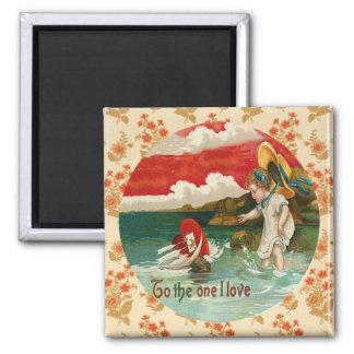 Sailing Heart Vintage Valentine Custom Magnet