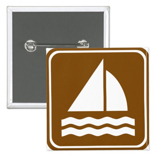 Sailing Highway Sign 2 Inch Square Button