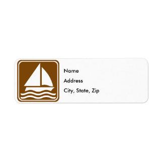 Sailing Highway Sign Return Address Label