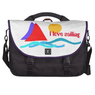 Sailing - I love sailing Laptop Messenger Bag
