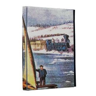 Sailing Ice Boats iPad Folio Cover