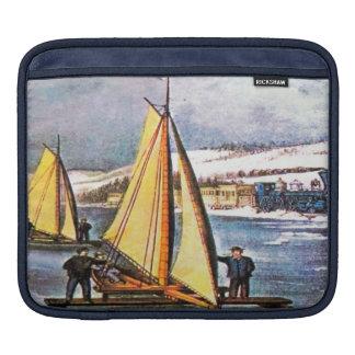 Sailing Ice Boats iPad Sleeve