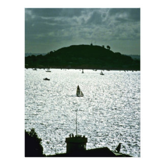 """Sailing In Auckland Harbor, North Island 8.5"""" X 11"""" Flyer"""