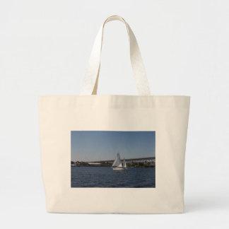 Sailing in beautiful Groton CT Tote Bag