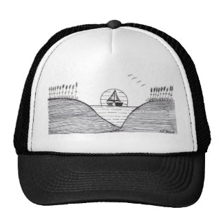 """""""Sailing"""" in (Black and White) Hat"""