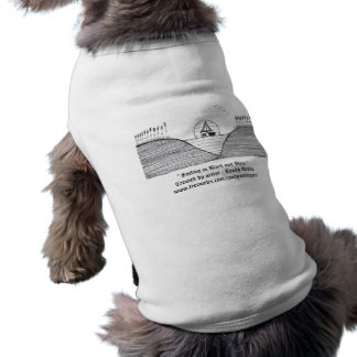 """"""" Sailing in Black and White """" (Pet Clothing)"""