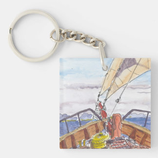 Sailing in Fiji Key Chain Acrylic Key Chains