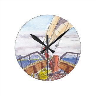 Sailing in Fiji Wall Clock