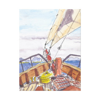 Sailing in Fiji Wrapped Canvas Gallery Wrapped Canvas