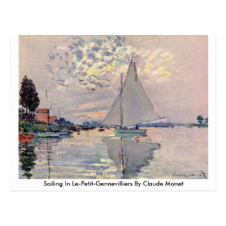 Sailing In Le-Petit-Gennevilliers By Claude Monet Post Cards