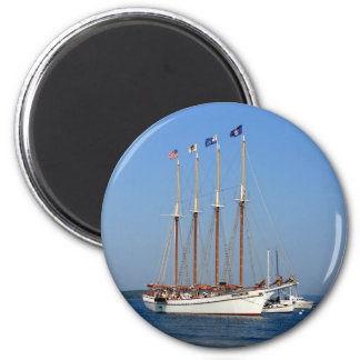 Sailing in Maine 2 Inch Round Magnet
