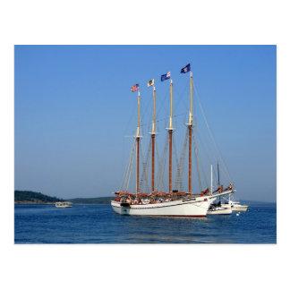 Sailing in Maine Postcard