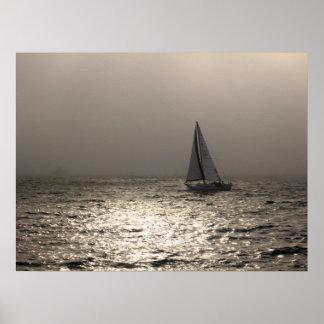 Sailing in Newport Harbor Poster