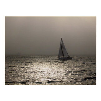 Sailing in Newport Harbor Print