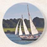 Sailing In Newport, Rhode Island, USA Drink Coaster