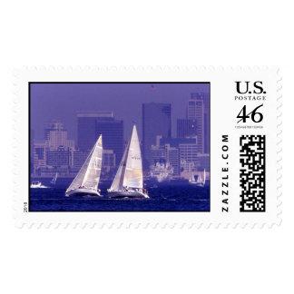 Sailing in San Diego, CA Stamp