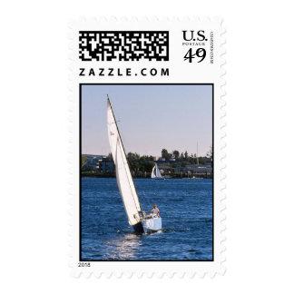 Sailing in San Diego Harbor Postage