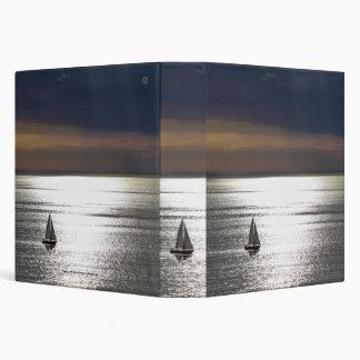 "Sailing in Santa Monica-1.5"" spine, 3-ring binder"