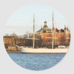 Sailing in Stockholm, Sweden Classic Round Sticker