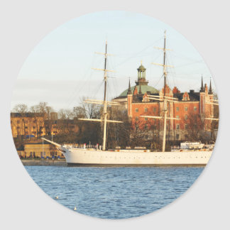 Sailing in Stockholm, Sweden Classic Round Sticker