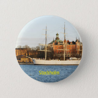 Sailing in Stockholm, Sweden Pinback Button
