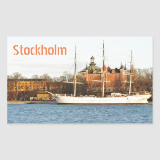 Sailing in Stockholm, Sweden Rectangular Sticker
